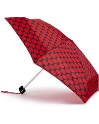 Lulu Guinness - Lips Grid Tiny Umbrella - Lyst