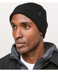 36893bdf50f35 Lyst - Lululemon Athletica Cold Pursuit Knit Beanie in Blue for Men