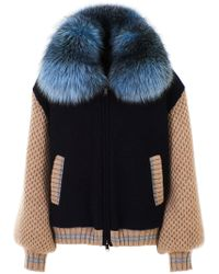 Eleventy - Blue And Beige Jacket - Lyst