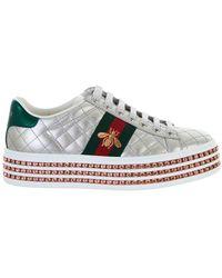 d389d7b87d1 Lyst - Gucci Sneakers Women in Metallic