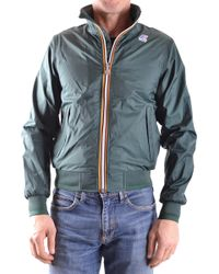 K-Way - Men's Mcbi175031o Green Polyamide Outerwear Jacket - Lyst