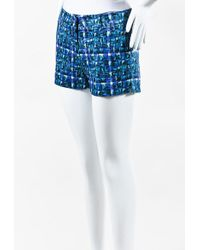 Risto - Nwot Blue Teal White Printed Shorts - Lyst