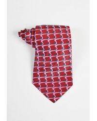 Paul Smith - Red Pink Teal Silk Squiggle Jacquard Necktie - Lyst