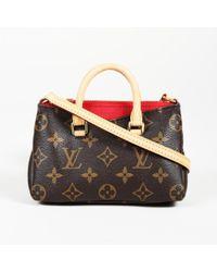 """Louis Vuitton - Monogram Coated Canvas Nano """"pallas"""" Satchel - Lyst"""