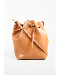 "Mansur Gavriel - ""cammello"" Brown Vegetable Tanned Leather ""bucket"" Bag - Lyst"