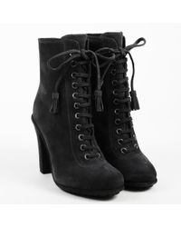 "AllSaints - Nwt ""asphalt"" Gray Suede Lace Up ""grimsby"" Boots - Lyst"