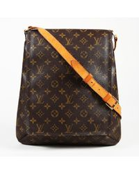 "Louis Vuitton - Monogram Coated Canvas ""musette Salsa Gm"" Shoulder Bag - Lyst"