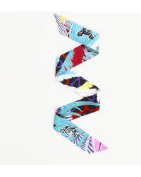 """Hermès - """"jaguar Quetzal Twilly"""" Silk Scarf - Lyst"""