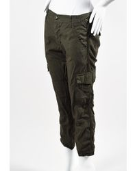 Bliss and Mischief - Nwt Olive Green Cotton Cargo Trousers - Lyst