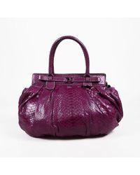 "Zagliani - Pink Python ""puffy"" Pleated Shoulder Bag - Lyst"