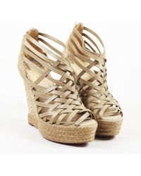 """Christian Louboutin - """"version Beige"""" Calf Leather """"tramontagne"""" Sandals - Lyst"""