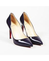 """Christian Louboutin Patent Leather """"pigalle"""" Pointed Pumps"""