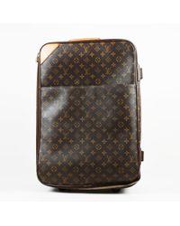 """Louis Vuitton - Vintage Brown Monogram Coated Canvas """"pegase 55"""" Suitcase - Lyst"""