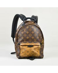 """Louis Vuitton - Brown Monogram Canvas & Leather """"palm Springs"""" Pm Backpack - Lyst"""