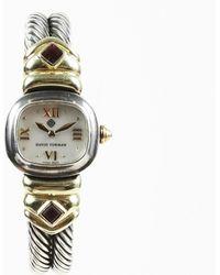 "David Yurman - ""cable"" Sterling Silver 14k Gold Watch - Lyst"