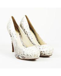 Alexandre Birman - Snakeskin Platform Court Shoes - Lyst
