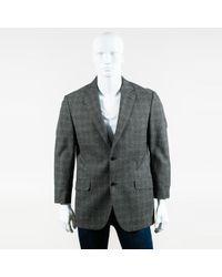 Etro - Mens Gray Multi Cotton Blend Plaid Blazer Jacket - Lyst