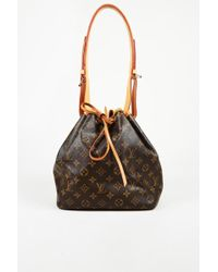 "Louis Vuitton - Monogram Coated Canvas Petite ""noe"" Shoulder Bag - Lyst"