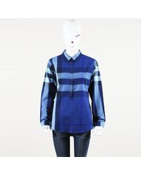 Burberry Brit Exploded Check Button Up Top