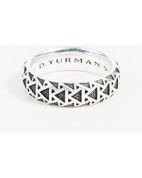 "David Yurman - Mens Sterling Silver ""frontier"" Ring Sz 10 - Lyst"