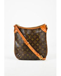 "Louis Vuitton - Brown Monogram Coated Canvas ""odeon Pm"" Crossbody Bag - Lyst"