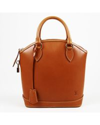 "Louis Vuitton Brown Leather ""nomade Lockit"" Bag"