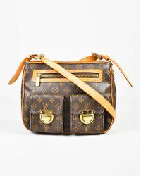 "Louis Vuitton - Brown Monogram Coated Canvas ""hudson Gm"" Shoulder Bag - Lyst"