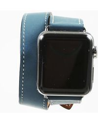 """Hermès - X Apple """"series 3"""" Eperon D'or Marine Calf Leather Watch - Lyst"""