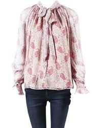 Co. - Pink Multior Silk Blend Paisley Blouse - Lyst
