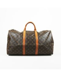 bfe51b16a709 Lyst - Louis Vuitton Vintage Brown Monogram Coated Canvas