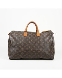 9842500bdc44 Lyst - Louis Vuitton Monogram Mini Speedy Shoulder Tote Bag Brown ...