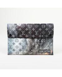 Louis Vuitton - 2018 Pochette Alpha Triple Monogram Galaxy Clutches - Lyst