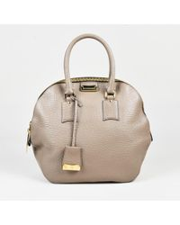 bb5a109c3acb Burberry - Taupe Grained Leather Medium