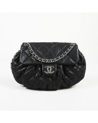 "Chanel - Quilted Leather Medium ""chain Around"" Flap Bag - Lyst"