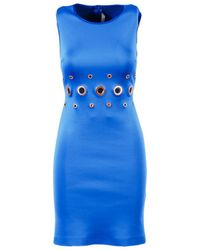 Clover Canyon - Blue Grommet Embroidered Bodycon Dress - Lyst