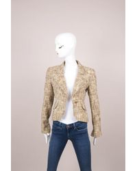 Chanel - Multicolour Tweed Single Button Blazer - Lyst