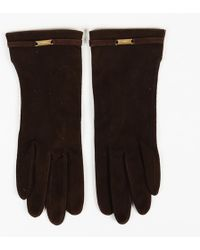 Chanel Vintage Suede Gloves