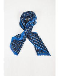 Louis Vuitton | Blue Multicolor Linen & Cotton Geometric Print Fringed Scarf | Lyst