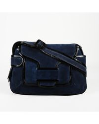 Pierre Hardy Suede Patent Leather Shoulder Bag