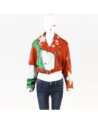 "DIESEL - Starred Leather ""l-flag"" Moto Jacket - Lyst"