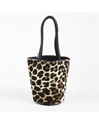 Alexander Wang - Animal Print Calf Hair Top Handle Bag - Lyst