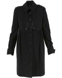 Burberry - London Black Cashmere Blend Coat - Lyst