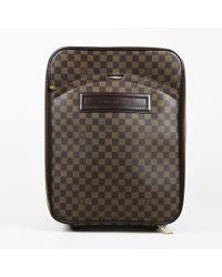 """Louis Vuitton - Brown """"damier Ebene"""" Coated Canvas """"pegase 45"""" Suitcase - Lyst"""
