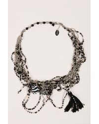 Erickson Beamon - Gray Black Multi Strand Chain Beaded Cluster Tassel Necklace - Lyst