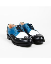 Robert Clergerie - Multicolor Leather Lace Up Colorblock Brogue Oxfords - Lyst