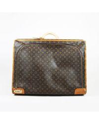 "Louis Vuitton - Vintage Brown Monogram Coated Canvas ""pullman 65"" Luggage Bag - Lyst"
