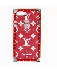 9c417337134a Supreme - Louis Vuitton X Red Monogram Coated Canvas
