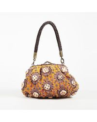 Jamin Puech - Orange Beaded Velour Shoulder Bag - Lyst