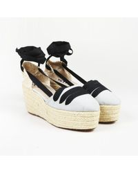 04e43c05a8b Rochas - Blue Brown Espadrille Wedge Sandals - Lyst