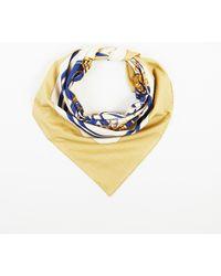 """Hermès - Beige Multicolour Cotton """"brides De Gala"""" Printed Scarf - Lyst"""